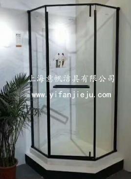 最流行黑色窄框元素304不锈钢钻石型淋浴房